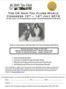 Uk Shih Tzu World Congress Shih Tzu Club