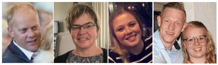 Arend, Henriëtte, Melanie, Nadine ter Bork & Bjorn Schuttevaar (coördinatie na 2019)